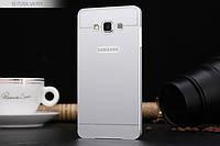 Бампер - накладка для Samsung A700H Galaxy A7 пластик/металл серый