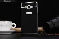 Бампер - накладка для Samsung A700H Galaxy A7 пластик/металл черный