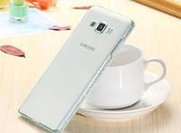 Накладка для Samsung A700H Galaxy A7 силикон 0.3mm Infinity Slim Diamond прозрачный