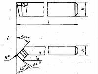 Резец проходной упорный отогнутый правый вк 6 описание