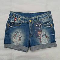 Летние джинсовые шорты для девочек Море