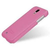 Накладка для Samsung I9500 Galaxy S4/ Qumo Quest 503 кожа Tetded розовый