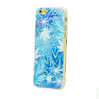 Накладка для Samsung J110H Galaxy J1 силикон Diamond Silicone Frozen Leaves