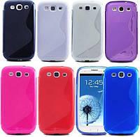 Накладка для Samsung S6810 Galaxy Fame силикон TPU Duoton голубой