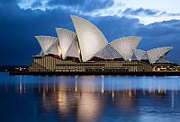 """Схема, частичная вышивка бисером, атлас, """"Сиднейская Опера"""""""
