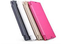 Чехол-Книжка для Samsung G800H Galaxy S5 mini Nillkin Sparkle Series белый