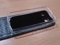 Чехол-Книжка для Samsung S5312 Galaxy Pocket Neo черный (с цветами)