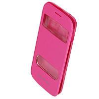 Чехол-Книжка для Samsung S7272 Galaxy Ace 3 Window розовый