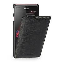 Чехол-Книжка для Sony Xperia L кожа Tetded флип черный (SYS36HTSBK)