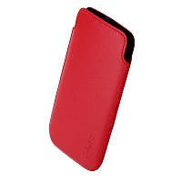 Чехол HTC Desire 600 1024 Valenta красный (подходит до Fly IQ4416)