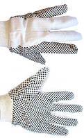Перчатки рабочие х/б тканевые крапивка