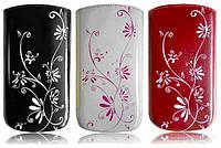 Чехол Nokia 112/113 Era La Fleur белый (110,4x46,9x15,4 Bravis Base, Nokia 300 Nokia 202 KENEKSI E1,)