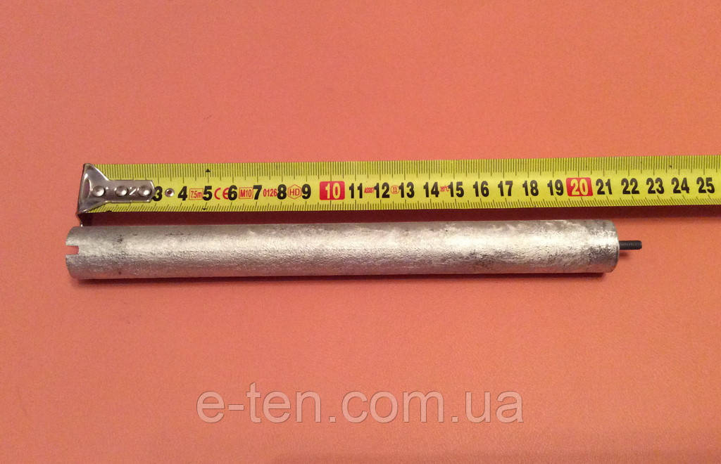 Анод магниевый Италия - Ø21мм / L=210мм / резьба M4*10мм   оригинал