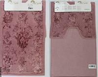 Набор ковриков для ванной и туалета  Arya Osmanlı сухая роза