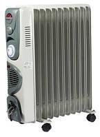 Масляный обогреватель с вентилятором и таймером  Volteno Turbo - 11 секций, 2,5квт