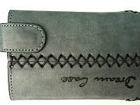 Чехол с клапаном, кожа Dream Case серый -9100