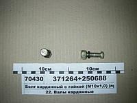 Болт карданный с гайкой (М10х1,0) (пр-во Россия)