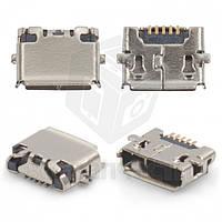 Конектор зарядки micro USB 5-ти контактний (High Copy)