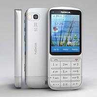 Корпус (копия) Nokia C3-01 Silver +клавиатура