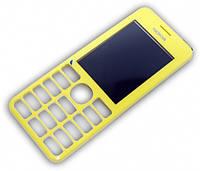 Передняя панель Nokia 206 Yellow оригинальная