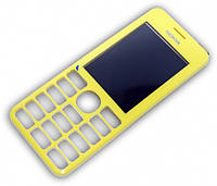 Передня панель Nokia 206 Yellow (Original)