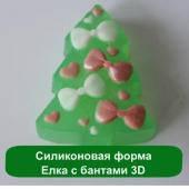 Силиконовая форма Елка с бантами 3D