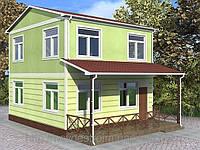 """Строительство домов """"под ключ"""" в Крыму. Проект """"Сатурн""""85 м кв"""