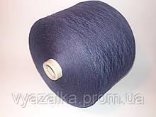 Пряжа Fusion 50% хлопок, 50% акрил, темно-синий цвет,
