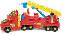 Детская игрушечная машинка для мальчика Пожарная машина WADER серия Super Truck, фото 1