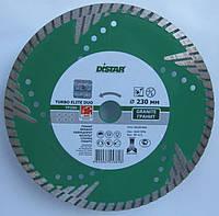 Алмазный диск для глубокой резки гранита Distar Elite DUO Turbo 230x3,0x10x22,23