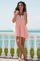 """Пляжный комбинезон-платье """"Венеция"""", персиковый"""
