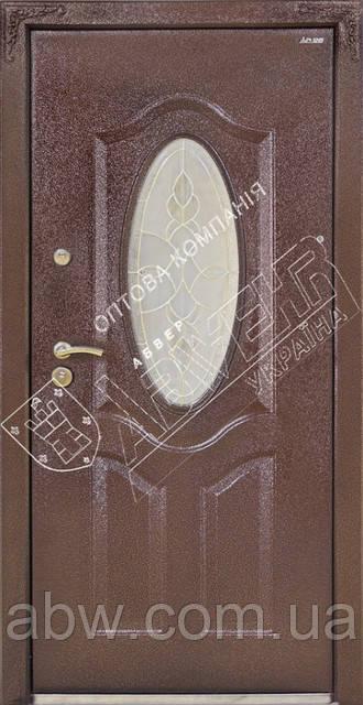 """Двери """"АБВЕР"""" со стеклом - модель 25-2 Изумруд"""