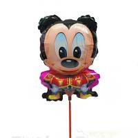 Шарик из фольги на палочке Микки Маус 38 х 26 см.
