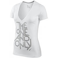 Женская футболка Nike ONE AND ONLY SS DEEP V-NECK