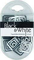 "Скрепки Axent ""Black&White"" квадрат 25 штук"
