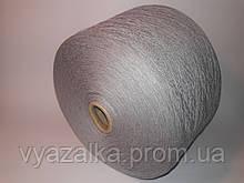 Пряжа Fusion 50% хлопок, 50% акрил, серый цвет,Италия