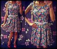 Красивое платье на спинке лесенка