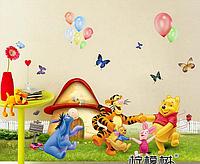 """Наклейки для детской комнаты с Винни пухом """"Хоровод"""" (лист 50*70см) размер 94*50см"""