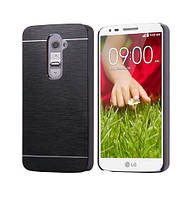 Чехол Motomo Line Series Metal + PC для LG G2 D802 Black