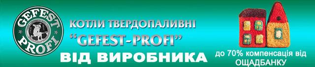 Котлы твердотопливные Gefest profi P (Гефест профи P)