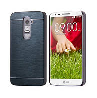 Чехол Motomo Line Series Metal + PC для LG G2 D802 Slate