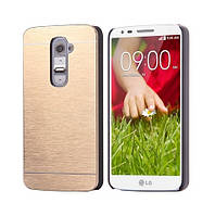 Чехол Motomo Line Series Metal + PC для LG G2 D802 Gold