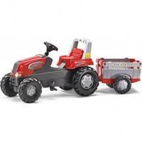 Педальный трактор с прицепом Junior Rolly Toys 800261