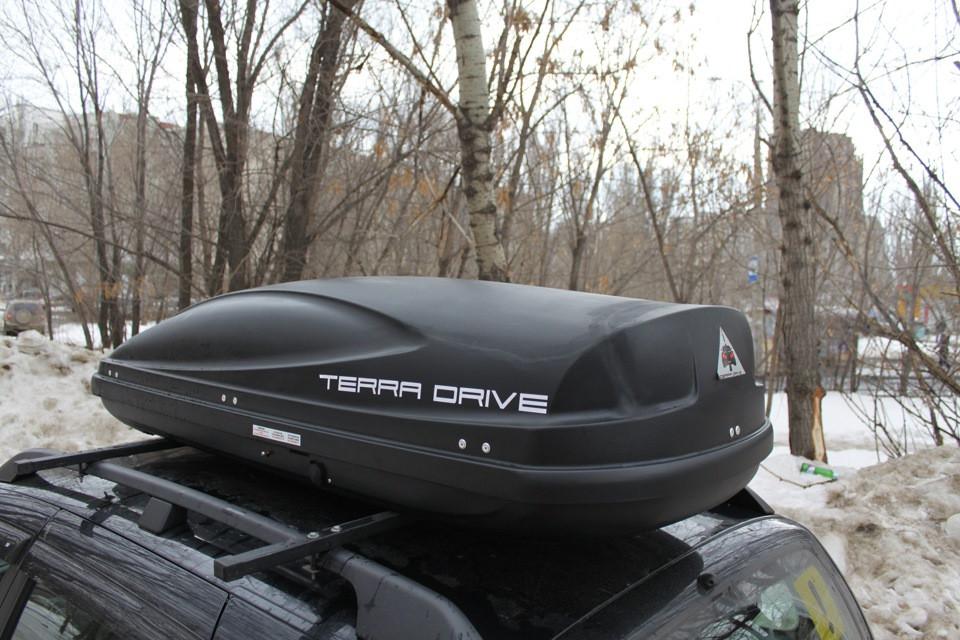 Вантажний автобокс Terra Drive 480 правосторонній чорний / Грузовой бокс Терра Драйв 480 правосторонний черный