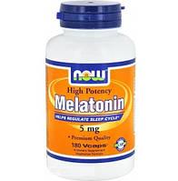 NOW Melatonin 5 мг, 180 капсул