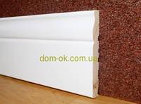 Деревянный плинтус белый Тип-24 Плинтус белый  100мм.
