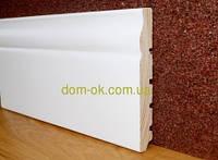 Плинтус белый деревянный Тип-24 высота 120 Плинтус белый 120мм.