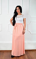 Нарядное красивое длинное женское платье