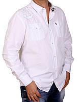 Белая мужская рубашка 3ХЛ.