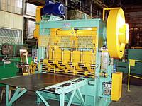 Станок пресс-автомат просечной для производства цельнометаллической просечно-вытяжной сетки ПВЛ